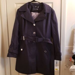 Calvin Klein Navy Blue Raincoat XL NWT